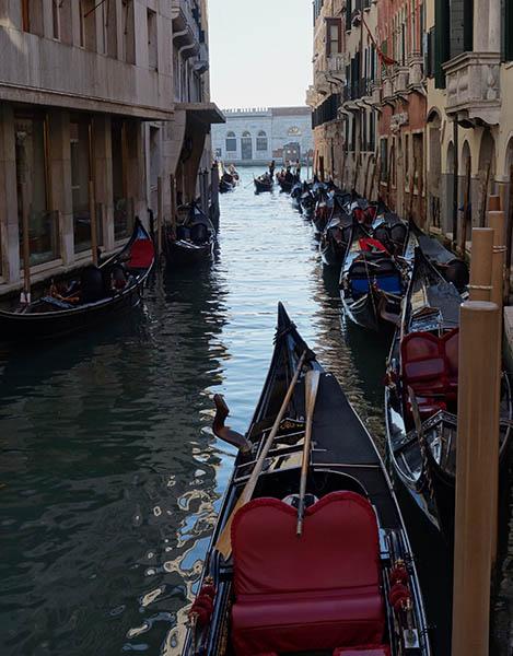 Gondolas near St Mark's