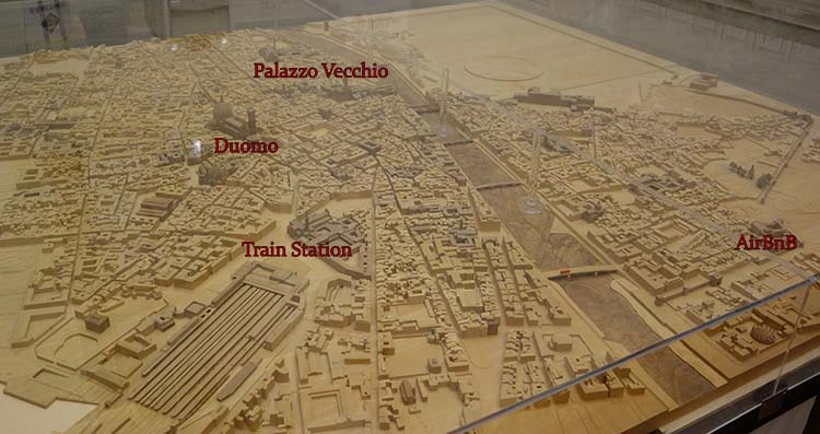 Model of Florence in the Uffizi