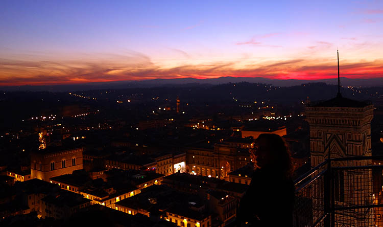 Sunset from the Duomo