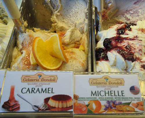 The Michelle Obama-inspired gelato