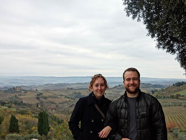Tuscan countryside near San Gimignano