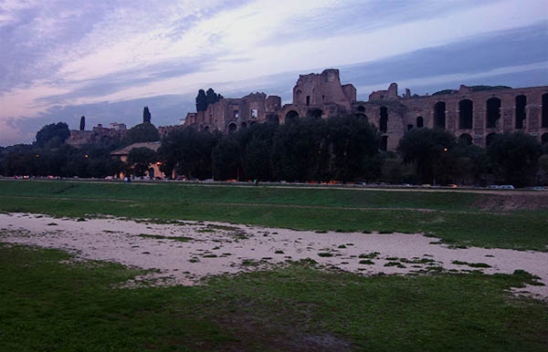 The Circus Maximus - now basically an empty field.