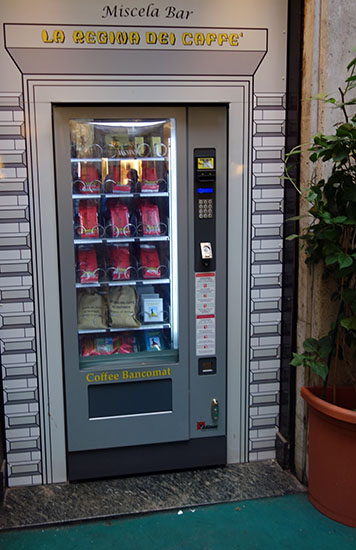 Coffee vending machine!