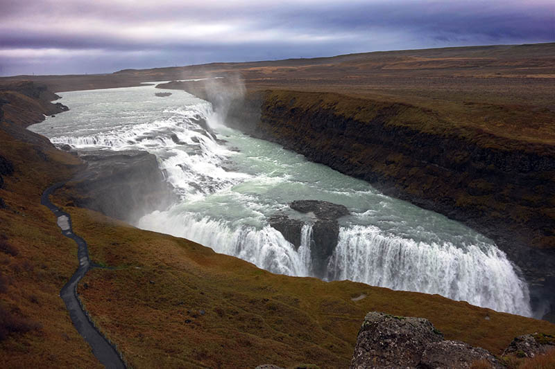 Another photo of Gullfoss waterfall