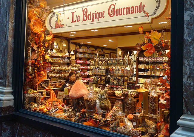 Fancy chocolate store in one of the oldest shopping malls in the world.