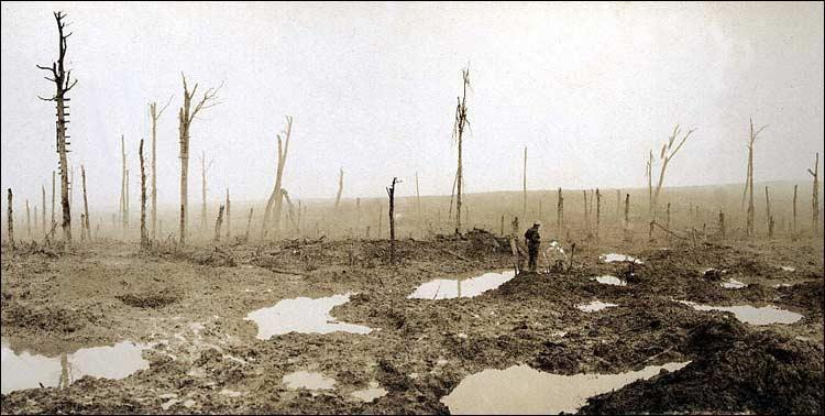 The battlefield during the war