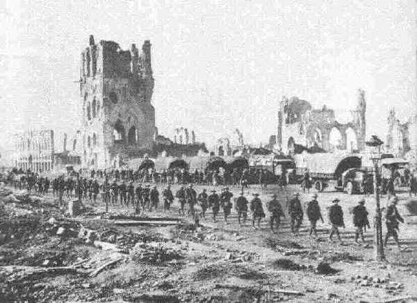 Ypres during the war