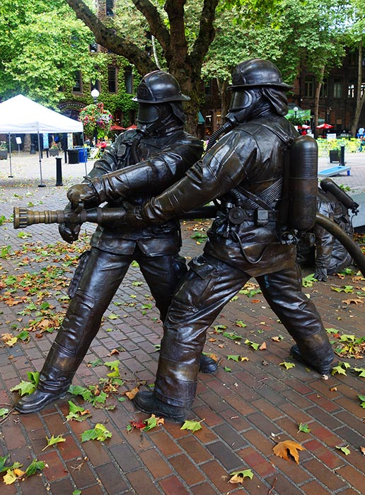 Memorial to Seattle Firefighters