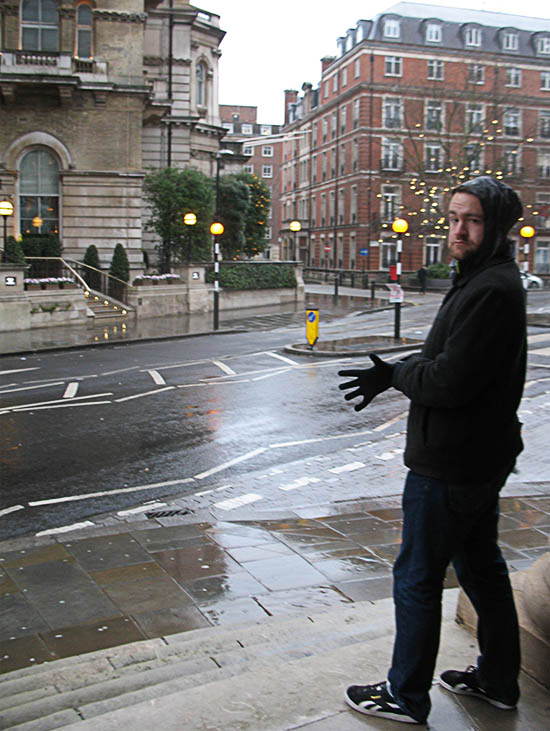 Ha! Candid photo at the start of the day's exploration, near Marylebone.