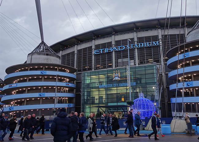 Etihad Stadium, home of Manchester City