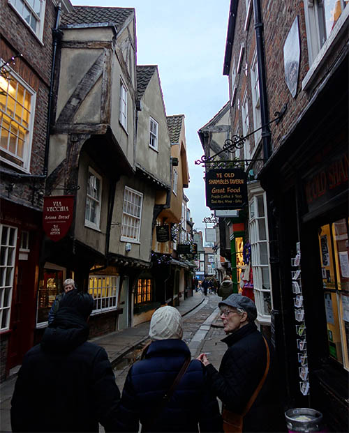 The shambles, and our amazing guide