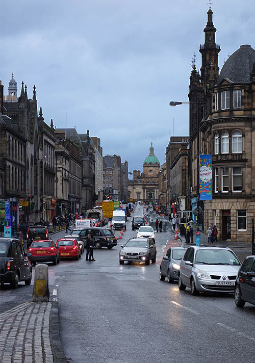 Street near the National Museum of Scotland