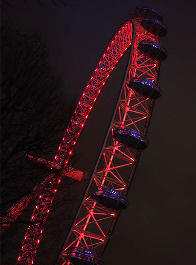 The London Eye, from below