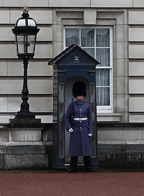The palace guard raincoats are pretty badass