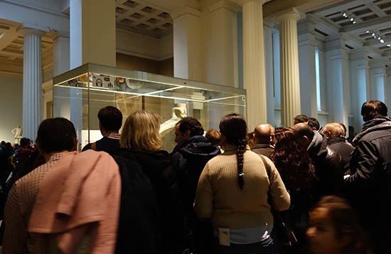 Crowds around the Rosetta Stone